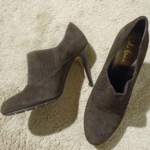 COLE HAAn Air Talia Slip-On Suede Booties *Worn 1x
